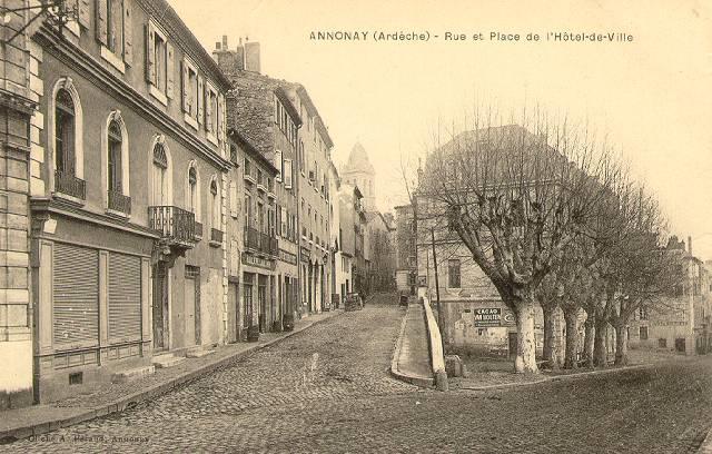 Foyer Hotel De Ville Annonay : Association lyon banque de cartes postales anciennes