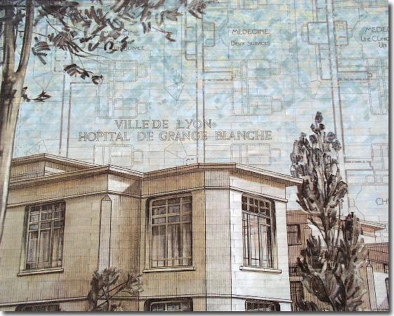 Association lyon promenade sur le theme des murs peints - Hopital edouard herriot grange blanche ...